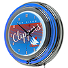San Diego Clippers Hardwood Classics NBA Chrome Neon Clock