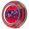 Washington Bullets Hardwood Classics NBA Chrome Neon Clock