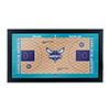 Charlotte Hornets Official NBA Court Framed Plaque
