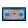 Oklahoma City Thunder Official NBA Court Framed Plaque