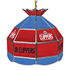Los Angeles Clippers NBA 16 Inch Stained Glass Lamp