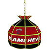 Miami Heat NBA 16 Inch Stained Glass Lamp