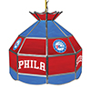 Philadelphia 76ers NBA 16 Inch Stained Glass Lamp