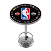 NBA Logo with All Teams Chrome Pub Table
