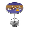 Los Angeles Lakers Hardwood Classics NBA Chrome Pub Table