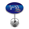 Utah Jazz Hardwood Classics NBA Chrome Pub Table