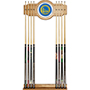 Golden State Warriors NBA Billiard Cue Rack with Mirror