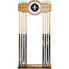 NBA Logo with All Teams Billiard Cue Rack with Mirror
