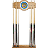 Oklahoma City Thunder NBA Billiard Cue Rack with Mirror