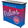 Detroit Pistons Hardwood Classics NBA Portable Bar w/Case
