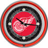 Vintage Detroit Redwings® Neon Clock - 14 inch Diameter