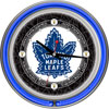 Vintage Toronto Maple Leafs� Neon Clock  - 14 in Diameter