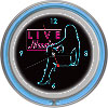Shadow Babes - D Series - Clock w/ Two Neon Rings - Blue