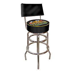Texas Holdem Padded Bar Stool with Back