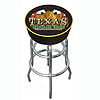Texas Hold 'em Logo Padded Bar Stool - Made In USA