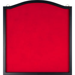 Dart Backboard - Wood Frame and Felt Wall Protector and Board Surround for Amateur and Intermediate Players by Trademark Games (Black and Red)