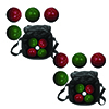 Set of 2 Trademark Games Full Size Premium Bocce Set with Easy Carry
