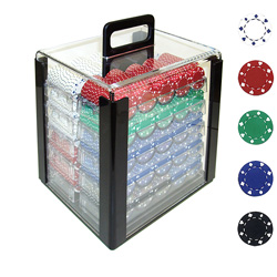 1000 11.5g SUITED Design Poker Chips in Acrylic Carrier