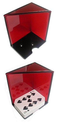 6 Deck Discard Holder (Red) with Top