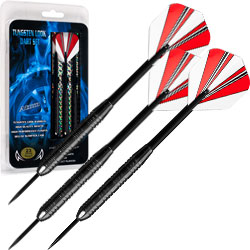 23 Gram Steel Tipped Darts ? Tournament Competition Accessory Set with Nylon Shafts, Flights and Carry Case by Trademark Games