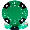 14 GRAM TRI COLOR ACE KING SUITED CLAY POKER CHIP