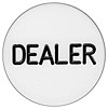 Acrylic Dealer Button ? Engraved Professional Casino Table Accessory for Poker, Texas Hold-Em, Blackjack and Other Card Games by Trademark Poker