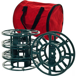 Set of 4 Extension Cord or Christmas Light Reels with Bag Image