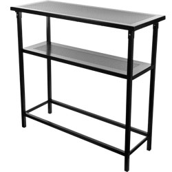 Deluxe Metal Portable Bar Table w/ Carrying Case