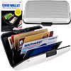 Aluminum Credit Card Wallet - RFID Blocking Case - Silver