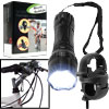 14 LED Flashlight w/Clip & Portable Bluetooth Speaker w/Bike Mount