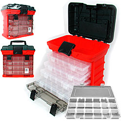 Stalwart 73 Compartment Durable Plastic Storage Tool