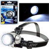 LED Headlamp, Adjustable Headband for Kids and Adults, Battery Operated 28 Lumen LED Bulbs, for Camping, Running, Hiking, and Emergency by Stalwart