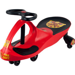 Wiggle Car- Fire Truck Ride On Toy- No Batteries, Gears or Pedals- Twist, Swivel & Go- For Boys and Girls 3 Years Old & Up by Lil? Rider (Red)