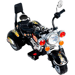 Ride on Toy, 3 Wheel Trike Chopper Motorcycle for Kids by Rockin' Rollers - Battery Powered Ride on Toys for Boys and Girls, Toddler and Up - Black