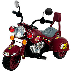 Ride on Toy, 3 Wheel Trike Chopper Motorcycle for Kids by Lil? Rider - Battery Powered Ride on Toys for Boys and Girls, Toddler and Up - Maroon
