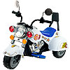 Ride on Toy, 3 Wheel Trike Chopper Motorcycle for Kids by Lil? Rider - Battery Powered Ride on Toys for Boys and Girls, Toddler and Up - White