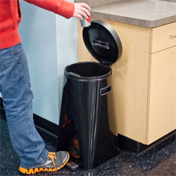 Kapoosh UV Sanitizing Waste Trash Can Bin - Black
