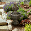 Outdoor Water Fountain, 2 Tier Lion Head Fountain With Natural Looking Stone and Soothing Sound for Decor on Patio, Lawn and Garden By Pure Garden