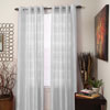 Lavish Home Maggie Grommet Curtain Panel - White