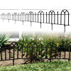 Garden Edging Border- Flower Bed Fencing for Landscaping- Victorian Fence, 8 Piece Set of Black Interlocking Outdoor Lawn Stakes by Pure Garden (16?)