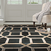 Lavish Home Opus Art Deco Area Rug - Dark Teal - 5'3