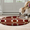 Lavish Home Opus Art Deco Area Rug - Burgundy - 5' Round
