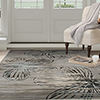 Lavish Home Opus Modern Floral Area Rug - Grey - 3'3