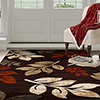 Lavish Home Opus Falling Leaves Area Rug - Burgundy -8'x10'