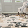 Lavish Home Opus Falling Leaves Area Rug - Cream - 5'3