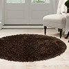 Lavish Home Shag Area Rug - Chocolate - 5' Round