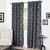 Lavish Home Dana Flocked Curtain Panel - 108