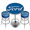 Ford Genuine Parts Game Room Combo - 2 Bar Stools and Table