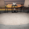 Lavish Home Outdoor/Indoor Shag Rug - Beige - 8' Round