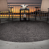 Lavish Home Outdoor/Indoor Shag Rug - Charcoal - 8' Round